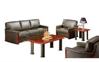 Luxury Adjustable Headrest Leather Sofa