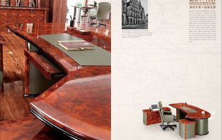 ROLLS 6841 High End Luxury Wooden Executive Table