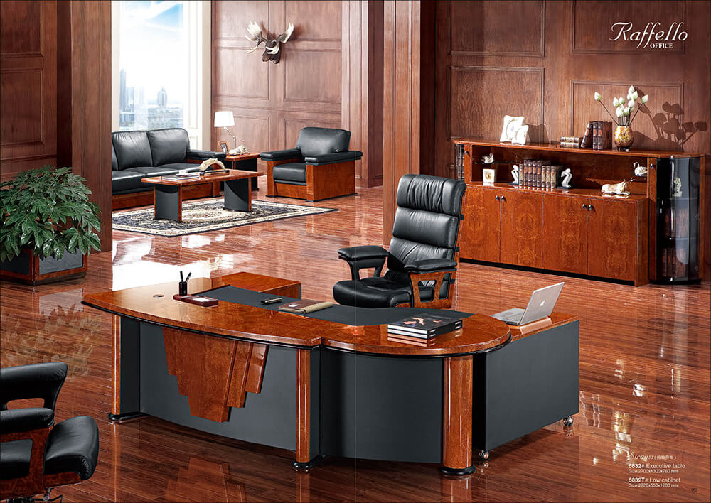 Rolls 6832 L Shape Luxury Standard Executive Office Desk