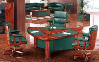 Luxury Brand Office Leather Conference Table