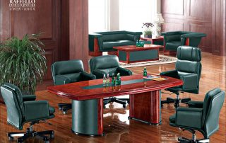 Modern Classic Office Leather Round Conference Table