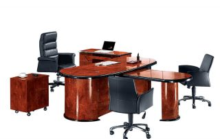 Rolls 6849 Professional Customized Boss Wooden Executive Table