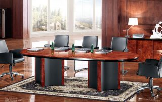 Classic Office Leather Meeting Conference Table