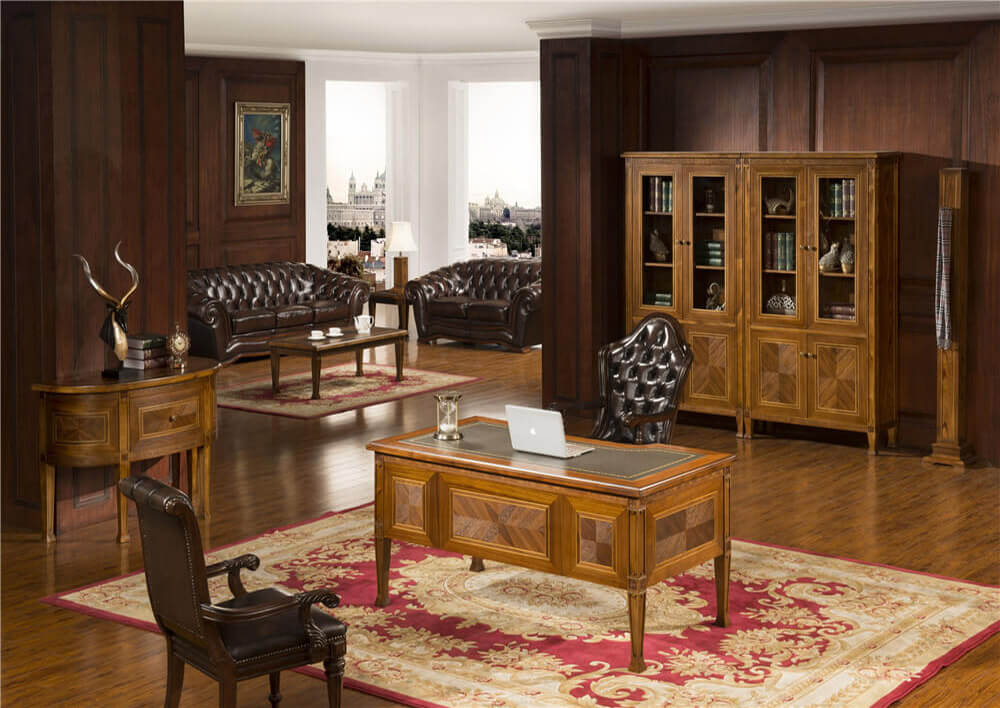 comfortable-walnut executive desk Rafflo 0823