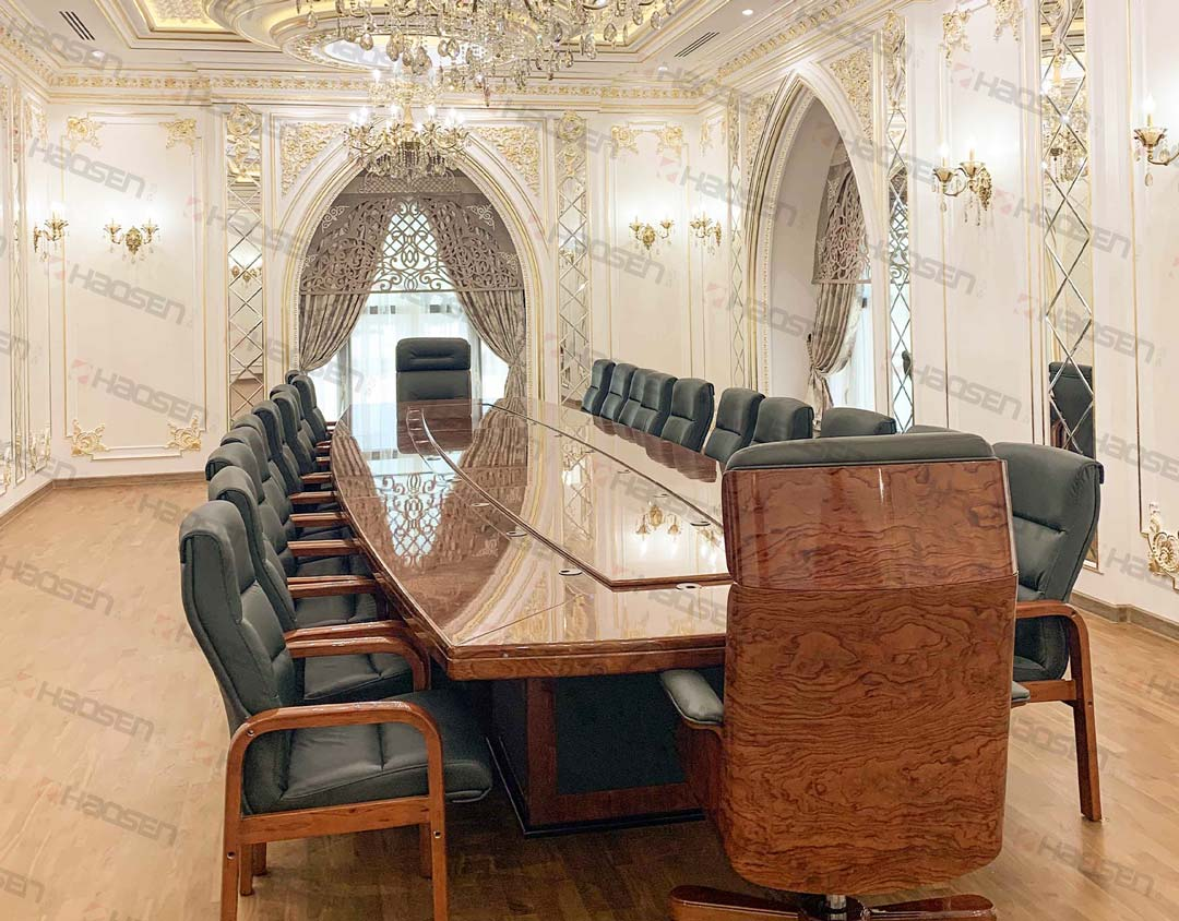 Luxury wooden meeting conference table and meeting Conference chair set