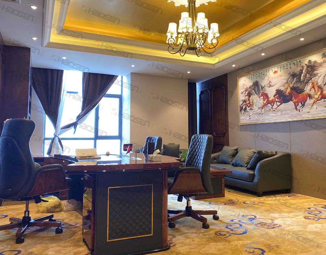 luxury leather and office furniture set