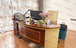 6881 luxury office furniture desk and chairs